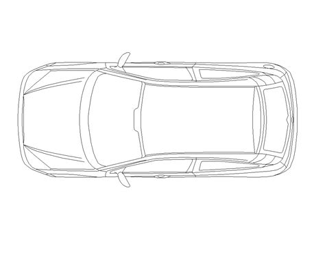 car plans cad block of a car in plan cadblocksfree cad blocks free