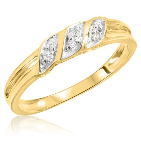 1/15 Carat T.W. Diamond Women's Wedding Ring 10K Yellow