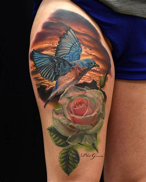 bird and rose tattoo bird tattoos askideas