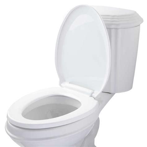 elongated  closing toilet seat bathroom