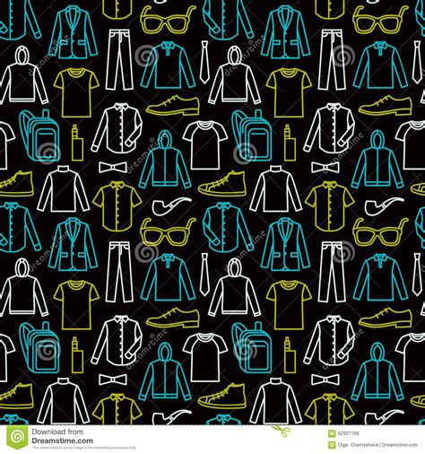 fashion vector background pattern endless clothes background stock vector image 62937198