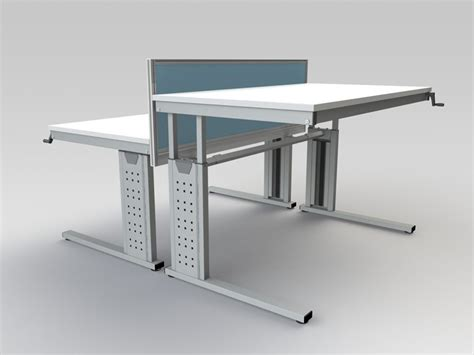 Adjustable Height Desk Frame by Height Adjustable Desk Frames Winding Handle Standing Desk Frames Made In The Uk