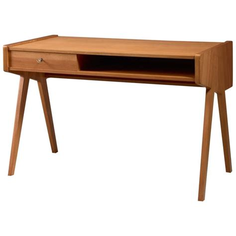 Helmut Magg Small Wooden Writing Desk Germany 1950s For Small Wood Writing Desk
