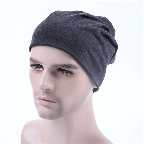 mens knit caps unisex knit plain beanie cap ski hat solid basic
