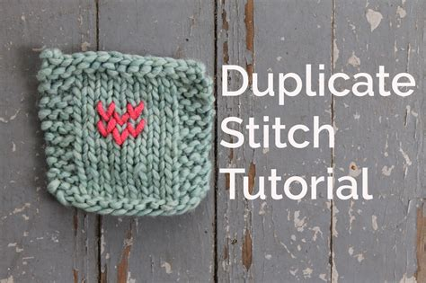 duplicate stitch in knitting swiss darning tutorial 10 simple steps craftsy