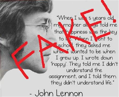 quote by john lennon when i was 5 years old my mother john lennon quote when i was 5 years fake hoax