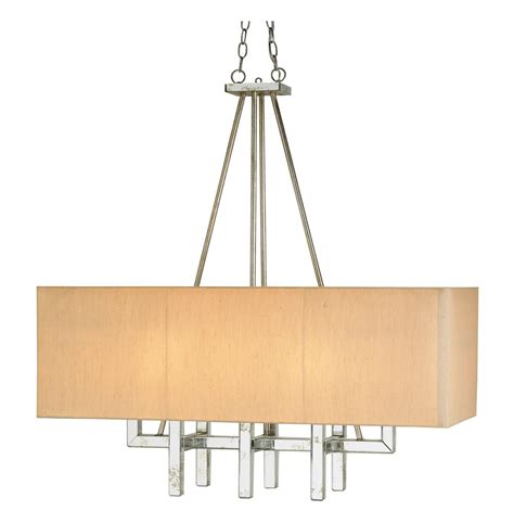 Modern Pendant Chandeliers Modern Eclipse Rectangular Antique Mirror Pendant Chandelier Kathy Kuo Home