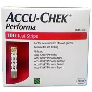 Unit Accu Chek Active accu check performa 100 test strips no of units 1 buy