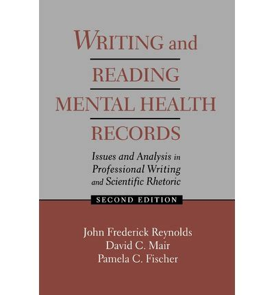 Mental Health Records Writing And Reading Mental Health Records C Fischer 9780805820027