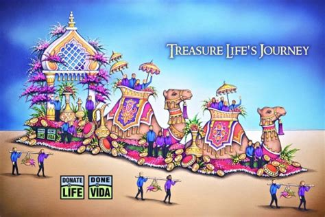 theme of rose parade 2016 rose parade 2016 donate life float s theme is quot treasure