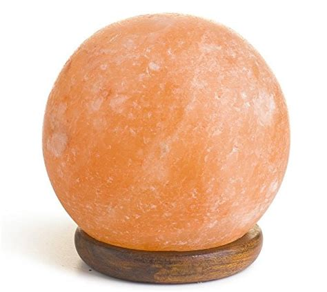 hemingweigh himalayan salt l hemingweigh wood base rock salt sphere l 14 15 cm wood