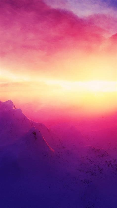 pink sunrise mountains iphone wallpaper iphone wallpapers