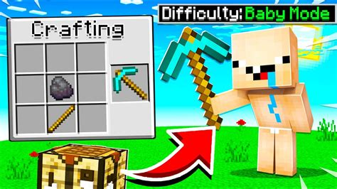 beat minecraft  baby mode  easier youtube