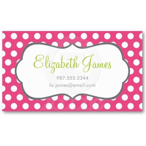 Polka Dot Business Card Templates Free by Pink Polka Dot Business Card Pink Dots And Cards