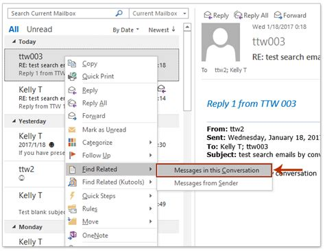 Searching For Emails In Outlook How To Search For Emails By Conversation In Outlook
