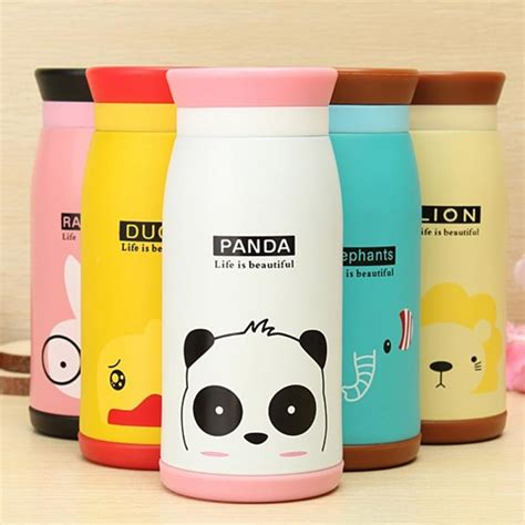 Sale 350ml Animal Stainless Steel Thermos 350ml thermos mug insulated tumbler travel cups stainless steel thermo vacuum cup flasks for