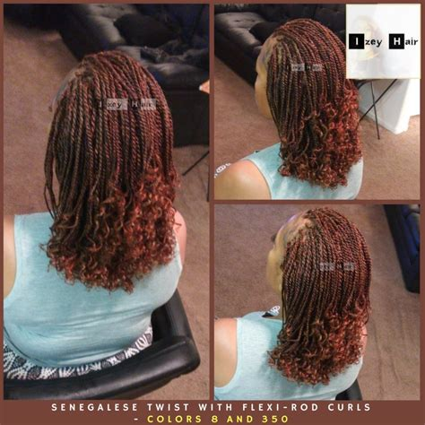 senegalese twist with color senegalese twist with flexi rod curls colors 350 copper