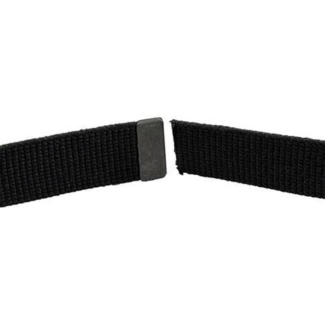 army dress belt black cotton with black tip size
