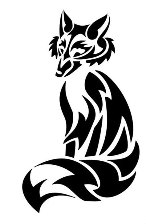 tribal fox tattoo designs cool tribal fox designs to draw cliparts co