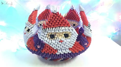 3d origami bowl tutorial how to make 3d origami bowl santa claus part 3 youtube