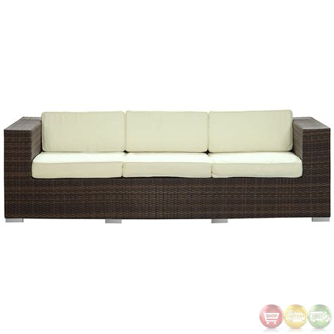 modern patio sofa daytona modern outdoor wicker patio sofa with water and uv