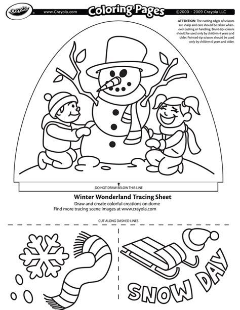 dome light designer winter wonderland coloring page