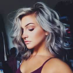 silver highlighted hair styles trendy fryzury 2017