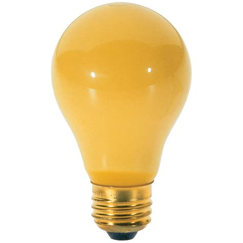yellow bug light bulbs yellow bug a19 light bulb 100 watts