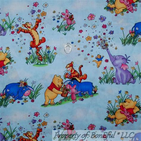 Winnie The Pooh Quilting Fabric by Boneful Fabric Fq Cotton Quilt Winnie The Pooh Baby Eeyore