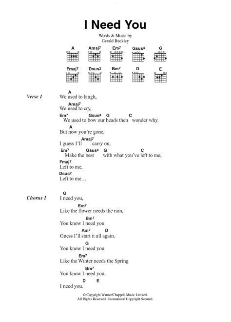 guitar tutorial you and i i need you by america guitar chords lyrics guitar