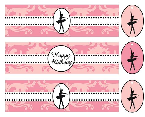 birthday water bottle labels template free ballerina birthday printable water bottle labels custompartydecor