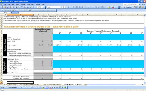 social return on investment excel templates