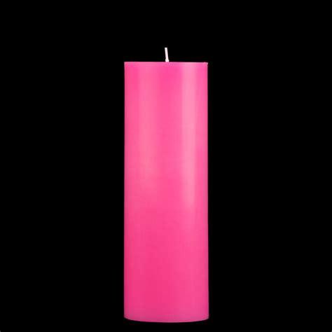 Pink Candles 3x9 Pink Pillar Candle