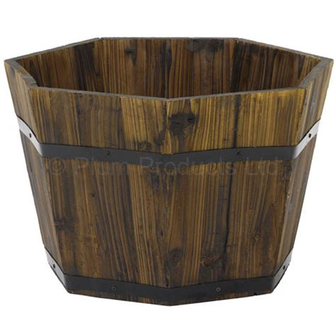 uk garden supplies hexagonal wood planter