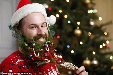 you can now decorate your hipster beard for christmas this christmas is all about the beard hipsters decorate