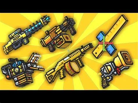 jugando con las armas amarillas en pixel gun 3d💛| pixel
