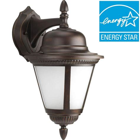 aged iron motion sensing outdoor led wall lantern home decorators collection aged iron motion sensing