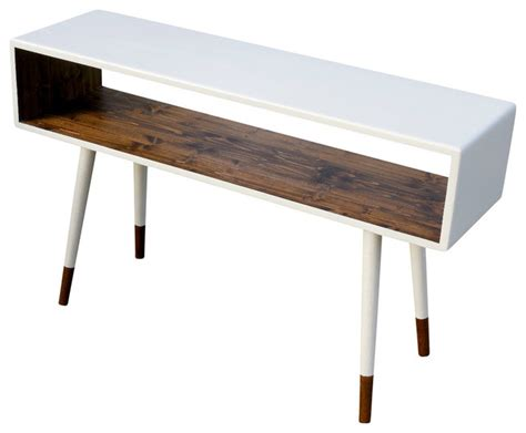 Mid Century Modern Sofa Table by Midcentury Sofa Table Dipped Poplar Wood By Orwa Designs