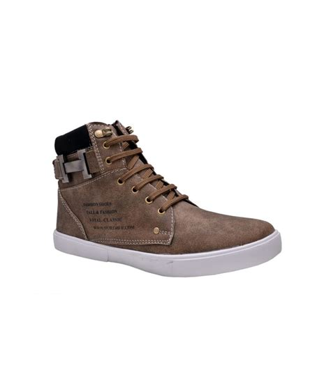 buy fentacia brown casual shoes for snapdeal