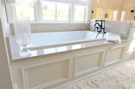 drop in bathtub ideas traditional master bathroom with roman shade by