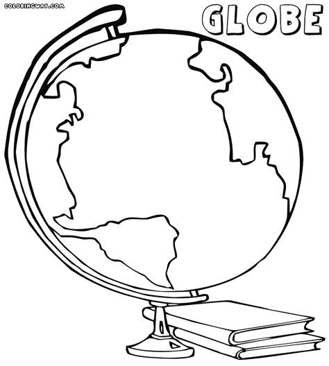 Globe Coloring Pages Coloring Pages To Download And Print Globe Coloring Pages