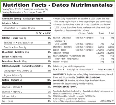 d protein nutrition facts herbalife shakes nutritional information dandk