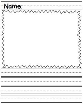 printable writing paper with space for drawing lined paper draw write graphic organizers by ms knopf tpt