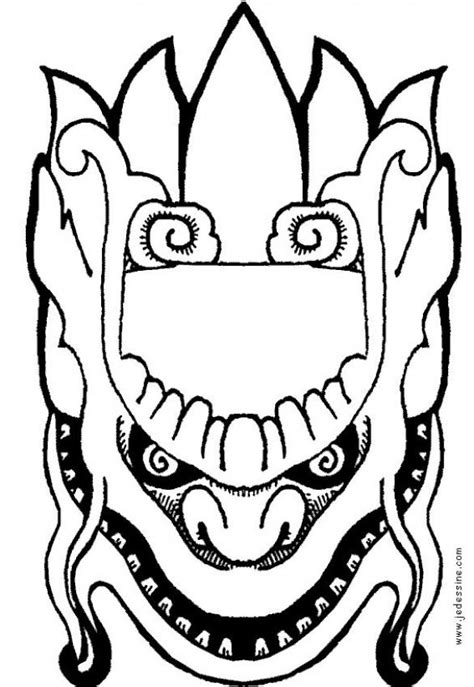 indonesian animals coloring pages how to craft indonesian mask to cut up hellokids com
