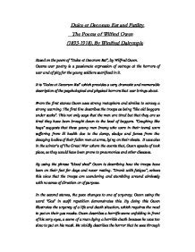 Wilfred Owen Dulce Et Decorum Est Essay by Dulce Et Decorum Est And Futility The Poems Of Wilfred Owen Gcse Marked By Teachers