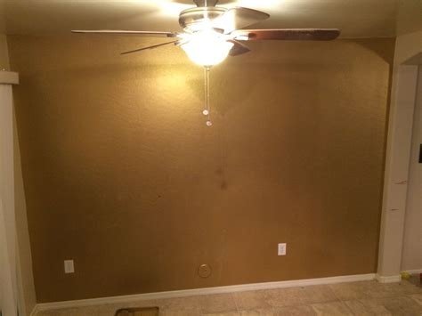 metallic wall paint metallic gold accent wall done with ralph s
