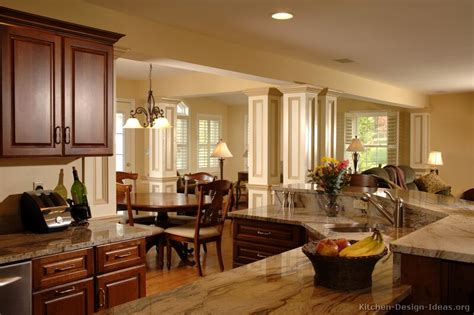 wood home interiors pictures of kitchens traditional dark wood kitchens