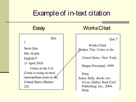 Exles Of Citations In An Essay by In Text Citations Essay Writing