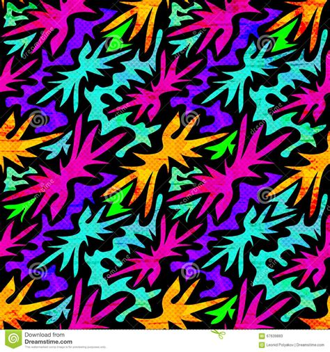 abstract graffiti pattern geometric abstract objects graffiti on a black background