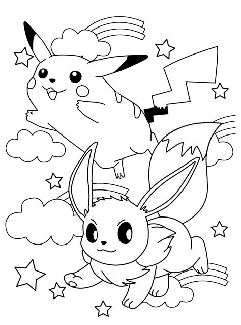 eevee coloring pages to print pokemon eevee coloring pages anime pictures az